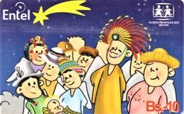 *BOLIVIA* - Scheda A Chip Usata - Christmas