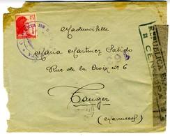 1938  CARTERIA 198 BRIGADA MIXTA  Hasta TANGER  EL 486 - 1931-Hoy: 2ª República - ... Juan Carlos I