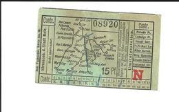 Ticket Ancien. Tramways De METZ (à L'époque Allemagne). Rare. Voir Description - Tramways