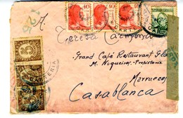 Frontal 153 BRIGADA MIXTA  CARTERIA  Hasta CASABLANCA   EL 492 - 1931-50 Cartas