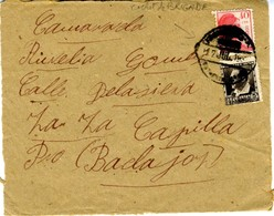 1937 Frontal CORREO CAMPAÑA   EL 498 - 1931-50 Cartas