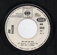 45T. Joe DASSIN. Me Que Me Que (Ch. AZNAVOUR - G. BECAUD)  -  Mon Village Au Bout Du Monde. JUKE-BOX, Spécial PROMOTION - Autres - Musique Française