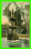 CLINTON, MA - FOSTER FOUNTAIN, CENTRAL PARK - TRAVEL IN 1913 - - Etats-Unis