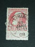 COB N ° 74 Oblitération Liège (Ste Marguerite) 08 - 1905 Grosse Barbe