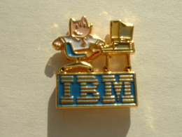 PIN'S IBM - J.O BARCELONE 92 - Informatique