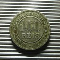 Brazil 100 Reis 1888 - Brazil