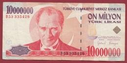 Turquie 10000000 Lira 2000 Dans L 'état - Turkey