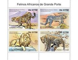 Sao Tome And Principe, 2011. [st11214] Fauna, Predators - Raubkatzen