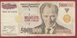 Turquie  5000000 Lira 1997 Dans L 'état - Turkey