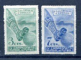Soccer WC 1950 Uruguay  Set Of 2 Regular Perf    MNH***XVF  Football - Fußball-Weltmeisterschaft