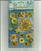 Pochette D'Auto-Collant  Neuve De Fleurs Et Coccinelle  ( Destiné A Un Usage Decoratif Seulement ) _Voir Scan - B. Blumenpflanzen Und Blumen