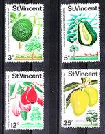 St. Vincent   -  1972. Bread Fruit,Papaya,Roseapple,Mango. Complete MNH Series - Frutta