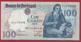 Portugal 100 Escudos Du 12/03/1985 Dans L 'état - Portogallo