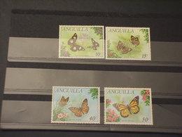 ANGUILLA - 1971 FARFALLE/FIORI 4 VALORI - NUOVI(++) - Anguilla (1968-...)
