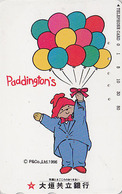 Télécarte Japon / 110-011 - BD Comics - OURS PADDINGTON Ballon - TEDDY BEAR Balloon Japan Phonecard - BÄR - 776 - BD