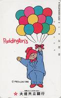 Télécarte Japon / 110-016 - BD Comics - OURS PADDINGTON Ballon - TEDDY BEAR Balloon Japan Phonecard - BÄR - 777 - BD