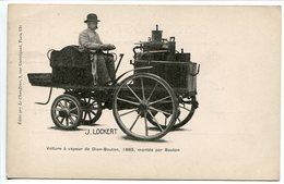 Pionnière * Voiture à Vapeur DE DION BOUTON 1885 Montée Par BOUTON * Éditée Par Le Chauffeur à Paris - Passenger Cars