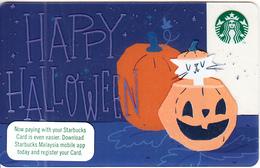 MALAYSIA - Happy Halloween, Starbucks Card, CN : 6154, Unused - Cartes Cadeaux