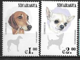 Nicaragua 2000 N°2381/2382 Neufs Avec Chiens - Hunde