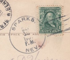 Sparks Nevada Doane(?) Postmark Cancel, C1900s Vintage Postcard - Postal History