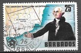 1976 U.S. Bicentennial, 25 Cents, Used - Barbados (1966-...)