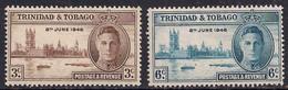 Trinidad & Tobago 1946 KGV1 Victory Set Umm SG 257 - 258 ( J1315 ) - Trinidad & Tobago (...-1961)