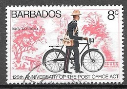 1976 Post Office Act, 125th Anniversary, 8 Cents, Used - Barbados (1966-...)