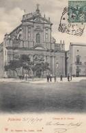 PALERMO-CHIESA DI SANTA TERESA-CARTOLINA VIAGGIATA IL 30-7-1902 - Palermo