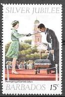 1977 Queen Elizabeth II, Silver Jubilee, 15 Cents, Used - Barbados (1966-...)