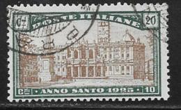 Italy Scott # B20 Used Holy Year, 1924 - 1900-44 Vittorio Emanuele III