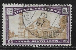 Italy Scott # B22 Used Holy Year, 1924 - 1900-44 Vittorio Emanuele III