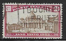 Italy Scott # B23 Used Holy Year, 1924, CV$40.00 - 1900-44 Vittorio Emanuele III