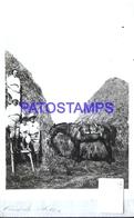 114204 URUGUAY PIRIAPOLIS DTO MALDONADO COSTUMES FAMILY AND HORSE  POSTAL POSTCARD - Uruguay