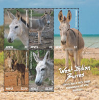 Nevis  2018 Fauna  West Indian Burros ,donkeys  I201901 - St.Kitts And Nevis ( 1983-...)