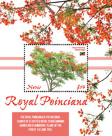 Nevis  2019 Royal Poinciana Trees ,flowers   I201901 - St.Kitts And Nevis ( 1983-...)