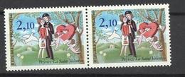 France Dallay Paire N°2400 Et N ° 2400b Oiseau Supplémentaire    Neufs  * * TB = MNH VF  Soldé    à Moins De 20 % ! ! ! - Varieties: 1980-89 Mint/hinged