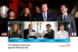 Palau 2017  U.S. PRESIDENT TRUMP VISITS JAPANESE PRIME MIINISTER SHINZO ABE   I201901 - Palau