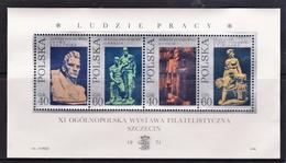 Poland 1971 Modern Sculpture Minisheet Mint No Gum - 1944-.... Republic