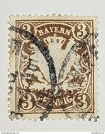 Allemagne Bavière Mi.69Y 1870 Oblitération Double - Bavière