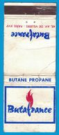 POCHETTE SANS ALLUMETTES CREATION LASTAR BUTANE PROPANE BUTAFRANCE 48 AV DE VILLIERS PARIS - Boites D'allumettes