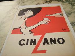 ANCIENNE AFFICHE PUBLICITE CINZANO 1954 - Posters