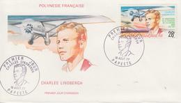 Enveloppe  1er Jour  POLYNESIE    Charles   LINDBERGH    1977 - FDC