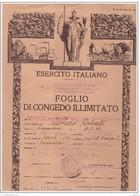 15 5 1962  FOGLIO DI CONGEDO ILLIMITATO RILASCIATO A CONDO ROBERTO - Documenti