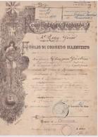 29 8 1919 FOGLIO DI CONGEDO ILLIMITATO RILASCIATO A CHIAPPONI GAETANO  4° REGGIMENTO GENIO - Documenti