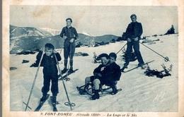 CPA Font-Romeu La Luge Et Le Ski - Sports D'hiver