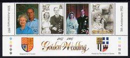 ISLE OF MAN, 1997 QUEENS WEDDING ANNIVERSARY STRIP 4 MNH - Isle Of Man