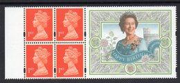 GREAT BRITAIN, BLOCK 4 1st CLASS STAMPS WITH QUEEN SELVEDGE - 1952-.... (Elisabetta II)