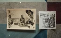2 Photos Bord De Mer Entre 1930-50 - Marseille Très Probablement - Personnes Anonymes