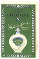 """CARTE -EAU DE COLOGNE  """"N"""" MOLINARDIENNE   GRASSE PARIS-   TOUJOURS PARFUMEE ! - Perfume & Beauty"""