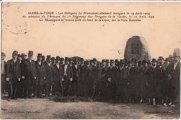 MARS LA TOUR-LES DELEGUES DU MONUMENT ALLEMAND INAUGURE LE 19 AOUT 1909 - Altri Comuni